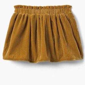 Gymboree Gold Velvet Skirt